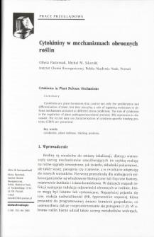 Cytokininy w mechanizmach obronnych roślin