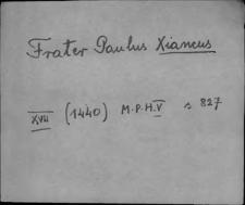 Kartoteka Słownika staropolskich nazw osobowych; X - Y-