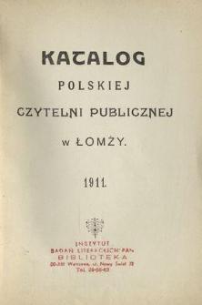 Katalog Polskiej Czytelni Publicznej w Łomży