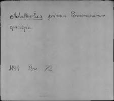 Kartoteka Słownika staropolskich nazw osobowych; Ad - Ag