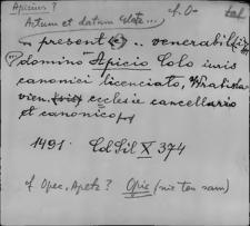 Kartoteka Słownika staropolskich nazw osobowych; Ap