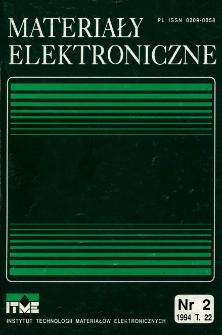 Spis treści 1994 T.22 nr 2