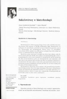 Bakulowirusy w biotechnologii