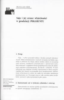 Soja i jej cenne właściwości w produkcji POLGRUNTU
