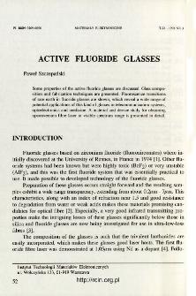 Active fluoride glasses