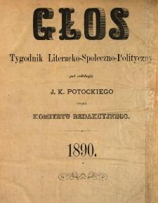Głos : tygodnik literacko-społeczno-polityczny 1890 N.3
