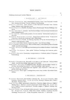 Pamiętnik Literacki, Z. 4 (2018), Treść zeszytu