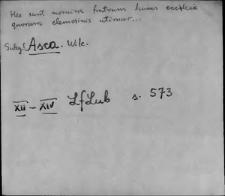 Kartoteka Słownika staropolskich nazw osobowych; As - Au