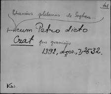 Kartoteka Słownika staropolskich nazw osobowych; Czat - Czel-