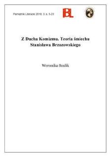 Z Ducha Komizmu. Teoria śmiechu Stanisława Brzozowskiego
