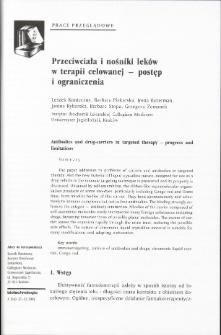 Przeciwciała i nośniki leków w terapii celowanej - postęp i ograniczenia