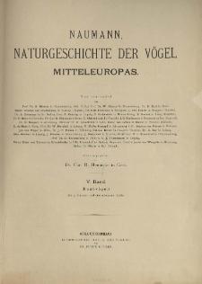 Naumann, Naturgeschichte der Vögel Mitteleuropas. neu bearbeitet R. Blasius [et al.] 5 Band ; Raubvögel :