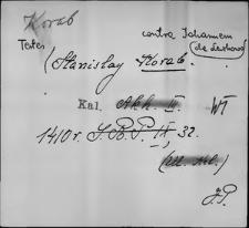 Kartoteka Słownika staropolskich nazw osobowych; Kor - Korcz