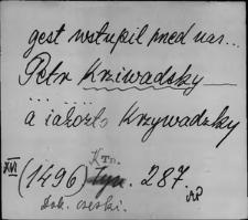 Kartoteka Słownika staropolskich nazw osobowych; Krzyw - Krzyż-