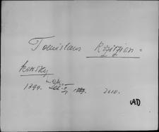 Kartoteka Słownika staropolskich nazw osobowych; Krzyż - Ks-