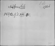 Kartoteka Słownika staropolskich nazw osobowych; Le - Li-