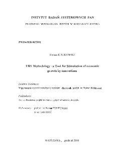 URS methodology - a tool for stimulation of economic growth by innovations