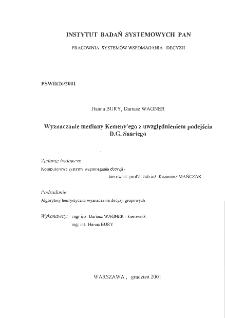 Wyznaczanie mediany Kemeny'ego z uwzględnieniem podejścia D.G.Saariego