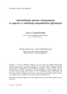 Identyfikacja stanów nietypowych w oparciu o metodykę estymatorów