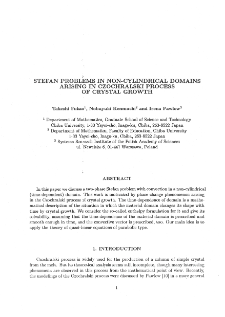 Stefan Problem in Non-Cylindrical Domains Arising in Czochralski Process of Crystal Growth