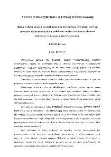 Analiza wielokryterialna a rozwój zrównoważony