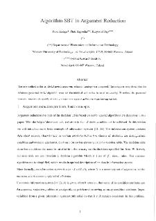 Algorithm SBT in Argument Reduction