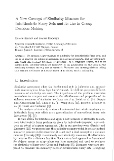 A new concept of similarity measure for intuitionistic fuzzy sets and its use in group decision making