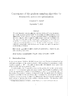Convergence of the Gradient Sampling Algorithm for Nonsmooth Nonconvex Optimization