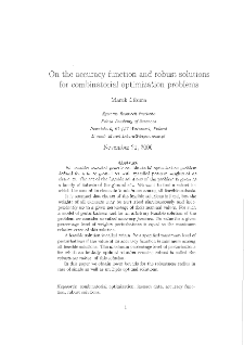 On the accuracy function and robust solutions for combinatorial optimization problems