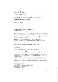 Breakpoint searching algorithms for the continuous quadratic knapsack problem