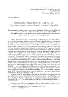 Rodzinne opresje Julianny Młodeckiej (1731–ok. 1799). Przyczynek do dziejów przemocy domowej w czasach staropolskich