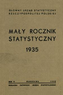 Mały Rocznik Statystyczny R. 6 (1935)