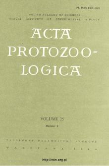Acta Protozoologica, Vol. 25, Nr 2 (1986)