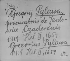 Kartoteka Słownika staropolskich nazw osobowych; Pil - Pio