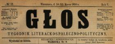 Głos : tygodnik literacko-społeczno-polityczny 1890 N.12