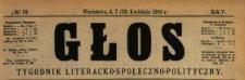 Głos : tygodnik literacko-społeczno-polityczny 1890 N.16