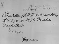 Kartoteka Słownika staropolskich nazw osobowych; P - wyłączone
