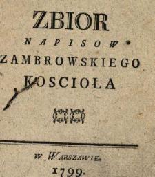 Zbior Napisow Zambrowskiego Koscioła