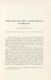Działanie azotonu srebra (AgNO2) na pochodne chlorowcowe ciał aromatycznych