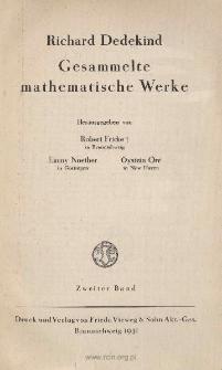Gesammelte mathematische Werke. 2er Bd. Spis i dodatki