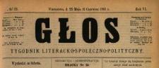 Głos : tygodnik literacko-społeczno-polityczny 1891 N.23