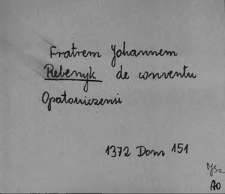Kartoteka Słownika staropolskich nazw osobowych; Re - Rę-