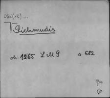 Kartoteka Słownika staropolskich nazw osobowych; Ri - Ro-