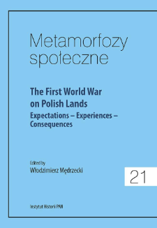 The First World War on Polish lands : expectations - experiences - consequences, Strona tytułowa, Spis treści