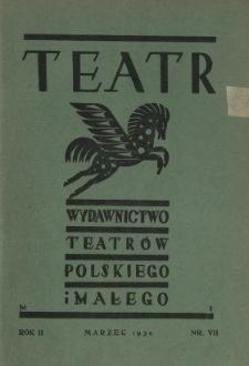 Teatr : wydawnictwo Teatru Polskiego 1929/1930 N.7
