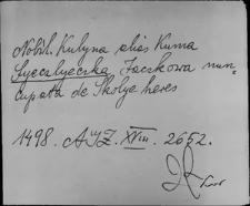 Kartoteka Słownika staropolskich nazw osobowych; Siel - Sien