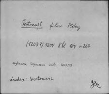 Kartoteka Słownika staropolskich nazw osobowych; Sies - Siew
