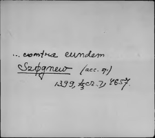 Kartoteka Słownika staropolskich nazw osobowych; Się - Sigi