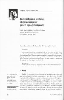 Enzymatyczna synteza oligosacharydów przez egzoglikozydazy