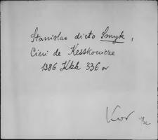 Kartoteka Słownika staropolskich nazw osobowych; Smycz - Smysz